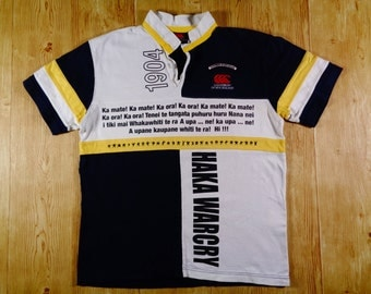 20% OFF Vintage CANTERBURY 1904 Hakka Warcry Lyric Rare Jersey Short Sleeve