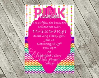 Tickled Pink Baby Shower Invite