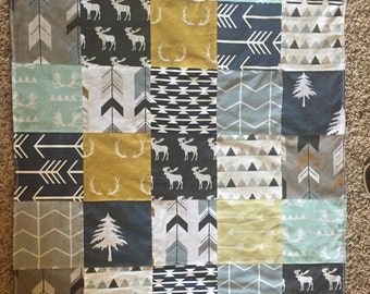 Woodland Quilt Blanket and Crib Set