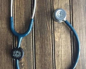 Monogrammed Stethoscope Id Tag