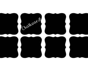Vinyl Chalkboard Label Stickers 2.5 x 2.5