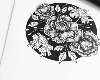 Crush Floral A4 Print