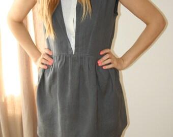 Gray linen Tunic, Linen tunic
