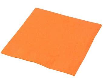 50-100 Orange Beverage Disposable Napkin, Wedding Napkins, Napkins, Beverage Napkins, Wedding, Party, Wedding Supplies, Party Supplies