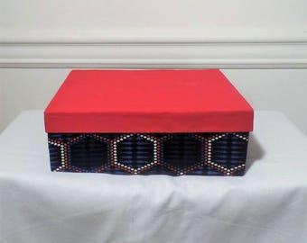 Large African Print/Ankara Jewelry Box from Ankara Boutique