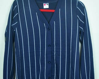 Vintage 90s Major Leaque Baseball Cardigan Sweater Relaxing Wear    Adult    M Size  