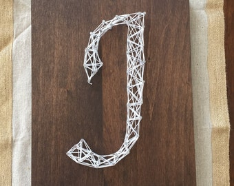 String art; string letters; wood letter