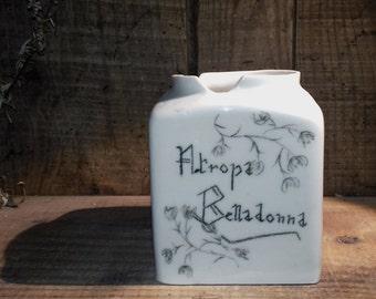 Pot porcelain Belladonna cube