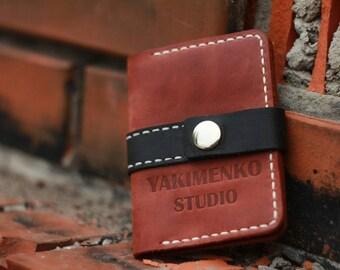 Wallet men's, minimalist bifold wallet, leather wallet, slim wallet