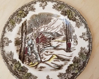 Johnson Bros The Friendly Village - Sugar Maples Set of 2 Bread and Butter Plates