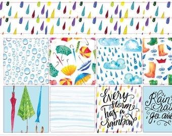 mini Happy Planner - Rainy Days - Weekly Sticker Kit (mHP)