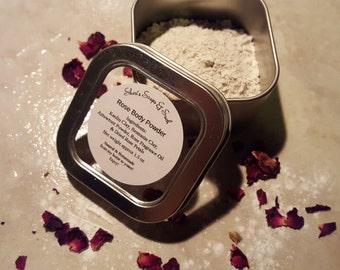 Rose Body Powder with Free Mini Powder Puff
