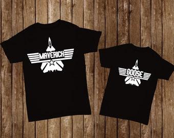 Papa & Me T-shirts: Top Gun Movie Maverick/ Goose