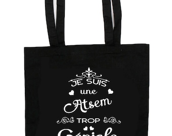 Tote Bag too funky home - school gift - cotton tote bag