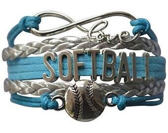 Softball Gift -Softball Bracelet – Softball Jewelry - Perfect for Softball Players, Softball Coaches & Softball Team Gifts