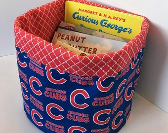 Chicago Cubs Fabric Bin (Reversible)