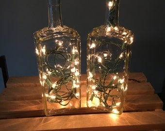 Lighted Square Bottles