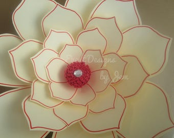 Large Paper Flower Template #1