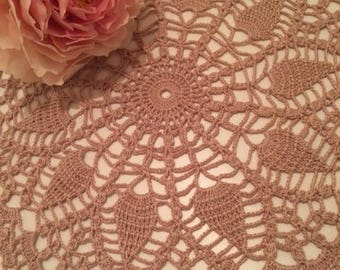 Coffee with milk doily crochet