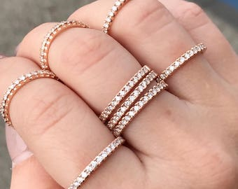 14kt Rose Gold Diamond Band (1/2 Way)