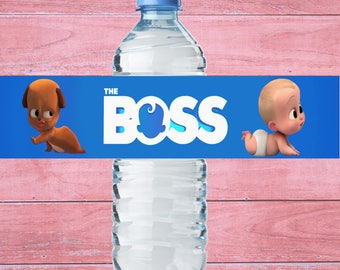 80% OFF SALE Boss Baby Water Bottle Label Boss Baby Bottle Label Boss Baby Birthday Party  Boss Baby Label