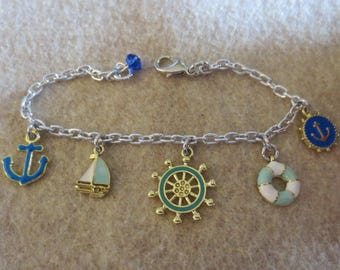 Nautical Ship charm bracelet