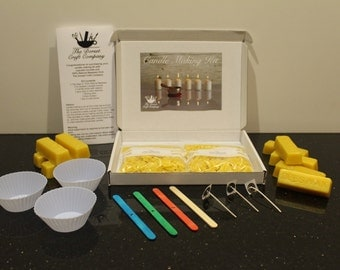 Candle Making Kit with 100% Natural Beeswax and Cupcake moulds.