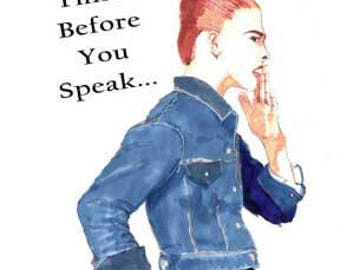 Think Before You Speak Magnet
