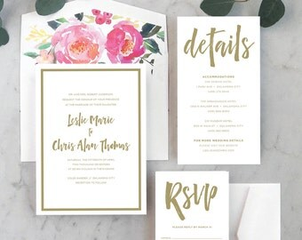 Brushed Beauty Wedding Invitations
