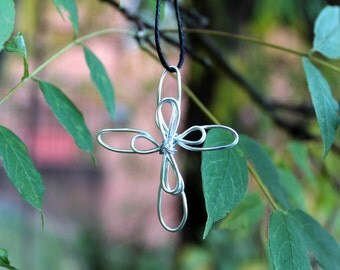 Handmade Wire Cross Pendant