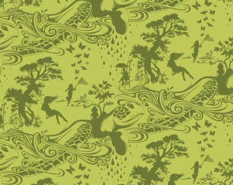 Tula Pink Prince Charming Turtle Bay Fat Quarter in Olive