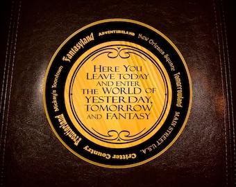 Magic Kingdom Welcome Sign Disneyland edition