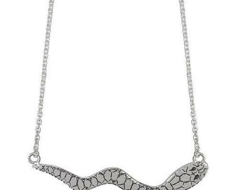 Sterling silver serpent necklace