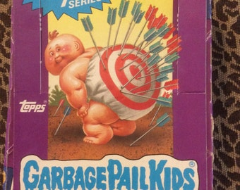 Original 1987 Garbage Pail Kids Trading Cards Stickers Series 7 Box & 48 Wrappers