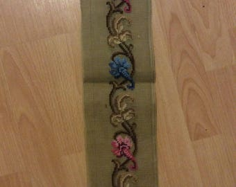 Pre-worked Paragon  Needlepoint Canvas Narrow Stylized Florals
