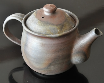 Japanese pottery wood fired Bizen ware, Ceramic Teapot
