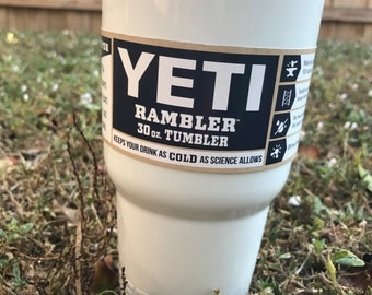 Yeti White Powder Coated 30oz