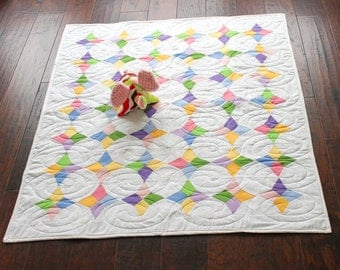 Periwinkle Quilt, Baby Quilt, Nursery Quilt, Quilt