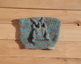 Knitted cap cat-owl