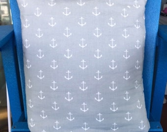 Gray with White Anchors