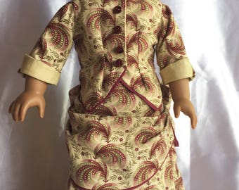 Victorian bustle dress including bustle for American girl doll