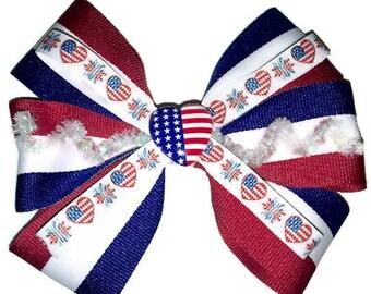 American Love Hair Bow