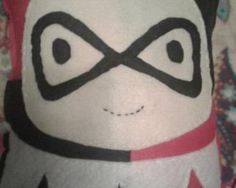 Harley Quinn decorative pillow plushie