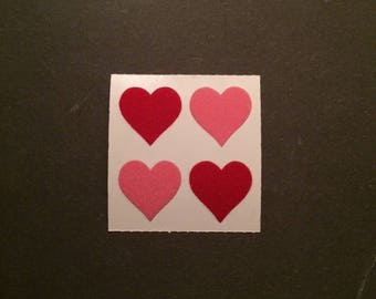 Sandylion vintage rare fuzzy heart stickers
