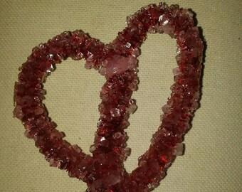 Hand Made Heart Crystals