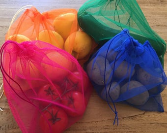 Bags with colorful vegetables