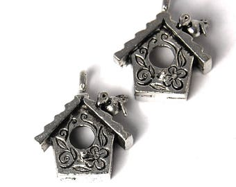 2pc, Bird House, Pewter U.S.A.