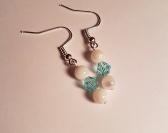Earrings Crystal and shell