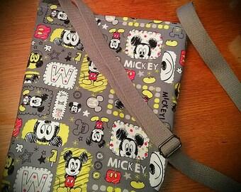 Mickey Mouse Crossbody Purse bag any fabric custom