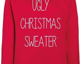Ugly Christmas Sweater - Xmas,Gift,Winter,Sweater,Pullover,Warm,Hoody,Weihnachten,Christmas Time,Wrapper,Gansta